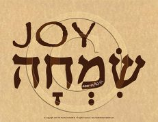 Joy Hebrew Poster (ECO)