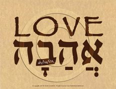 Love Hebrew Poster (ECO)