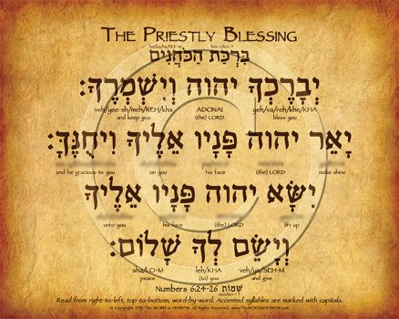The Priestly Blessing Hebrew Poster (V.1)