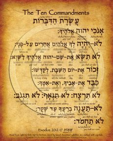 The Ten Commandments Hebrew Poster (V.1)