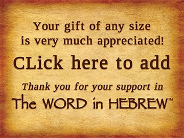 Support the WORD in HEBREW!