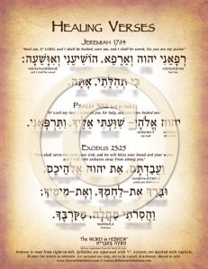 Healing Verses in Hebrew PDF Download (web)