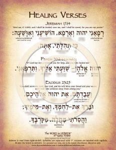 Healing Verses in Hebrew PDF Download (web)