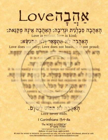 Love Is in Hebrew ECO (web)