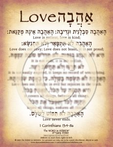 1 Corinthians 13:4-8 in Hebrew PDF Download (web)