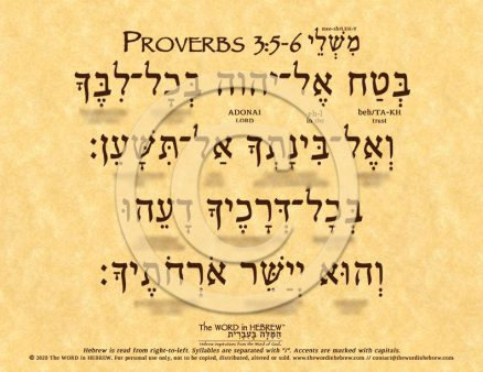 Proverbs 3:5-6 in Hebrew ECO (web)
