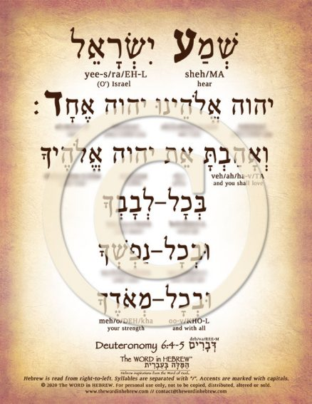 The Shema in Hebrew PDF Download (web)