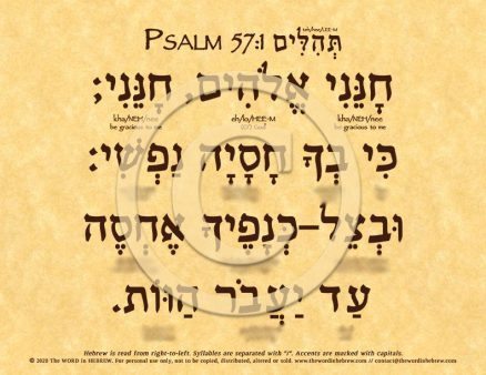Psalm 57:1 in Hebrew ECO (web)