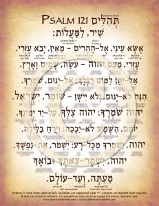Psalm 121 in Hebrew DOWN (web)